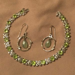 Jewelry - Sterling silver bracelet and earring set